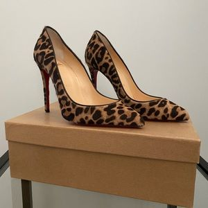 Christian Louboutin 100 Pony Jaguar brown size35.5